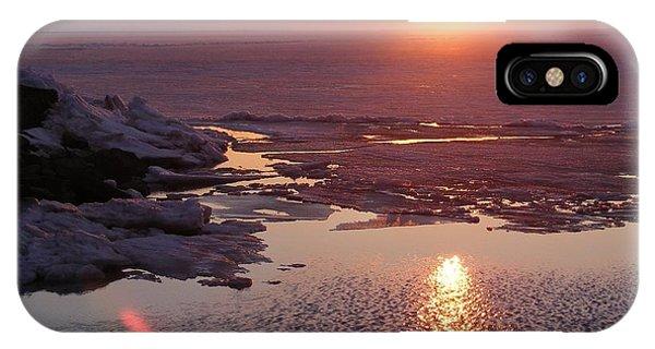 Sunset Over Oneida Lake - Horizontal IPhone Case