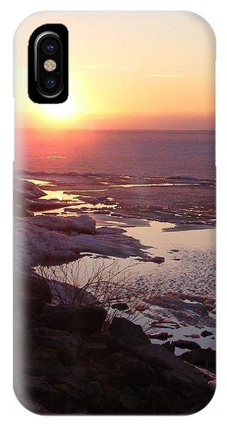 Sunset Over Oneida Lake - Vertical IPhone Case