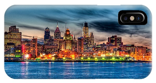 Skyscape iPhone Case - Sunset Over Philadelphia by Louis Dallara