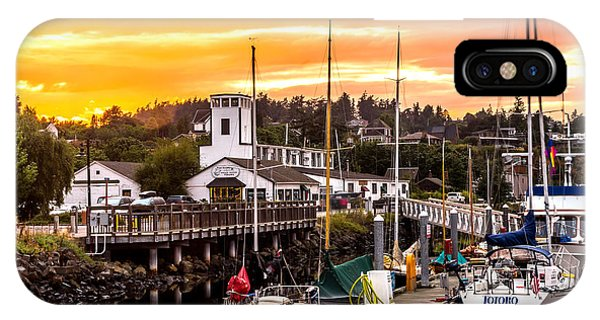 Port Townsend iPhone Case - Sunset Over Port Townsend by TL  Mair