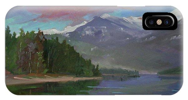 Betty Billups iPhone Case - Sunset Over Priest Lake, Id by Betty Jean Billups