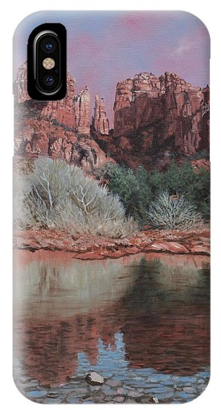 Sunset Over Red Rocks Of Sedona  IPhone Case