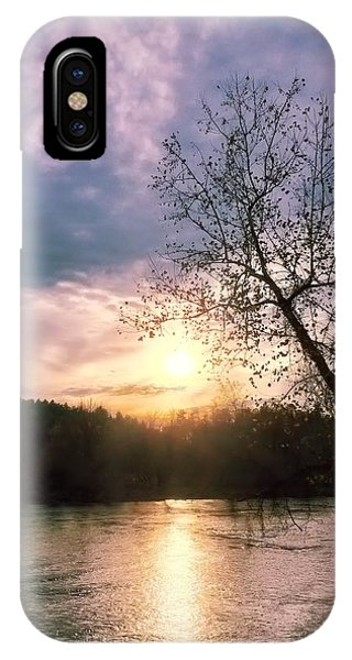 Sunset Over River IPhone Case