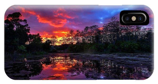 Sunset Over Riverbend Park In Jupiter Florida IPhone Case