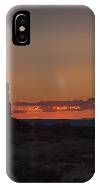 Sunset Over Rock Formation IPhone Case