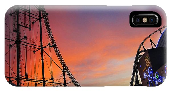 Sunset Over Roller Coaster IPhone Case