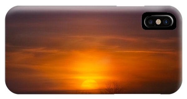 Kettles iPhone Case - Sunset Over Scuppernong Springs by Scott Norris