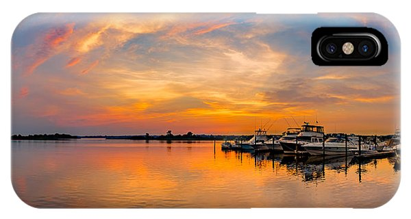 Sunset Over Shrewsbury Bay IPhone Case