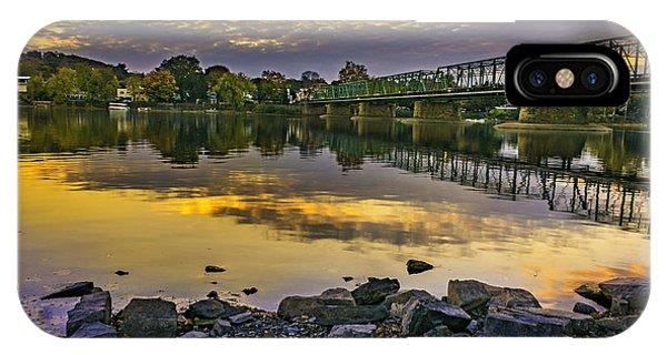 Sunset Over The Bridge IPhone Case