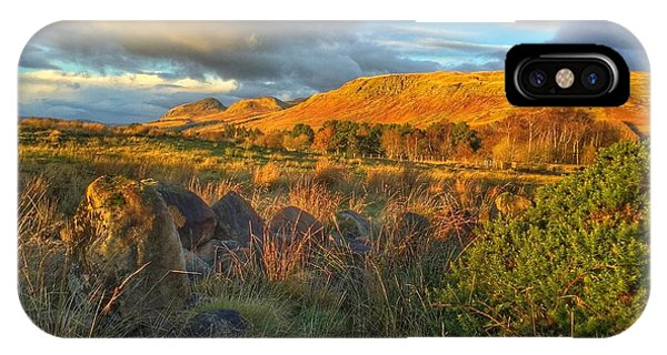 Sunset Over The Campsie Fells IPhone Case