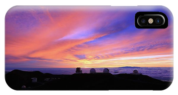 Sunset Over The Clouds IPhone Case