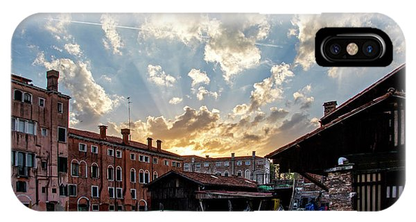 Sunset Over The Gondola Shop In Venice IPhone Case