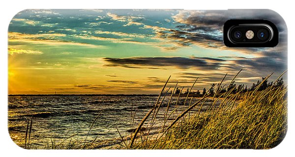 Sunset Over The Great Lake IPhone Case