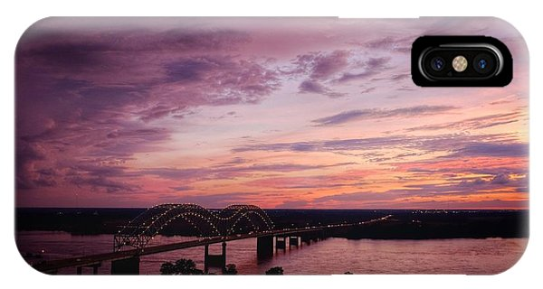 Sunset Over The I40 Bridge In Memphis Tennessee  IPhone Case