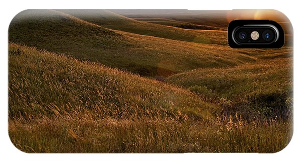 Rural Scenes iPhone Case - Sunset Over The Kansas Prairie by Jim Richardson