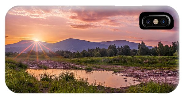 Sunrise Over The Little Beskids IPhone Case