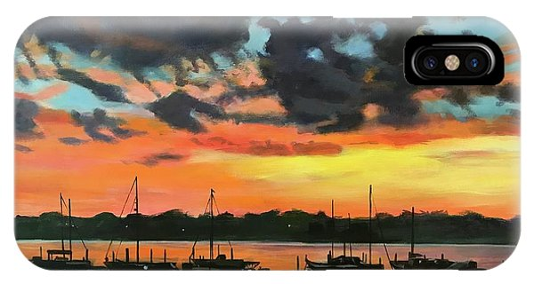 Sunset Over The Marina IPhone Case