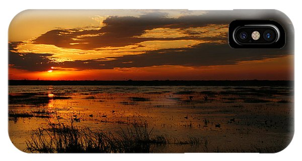 Sunset Over The Marsh IPhone Case