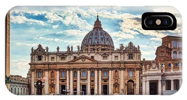 Sunset Over The Papal Basilica Of Saint Peter IPhone Case