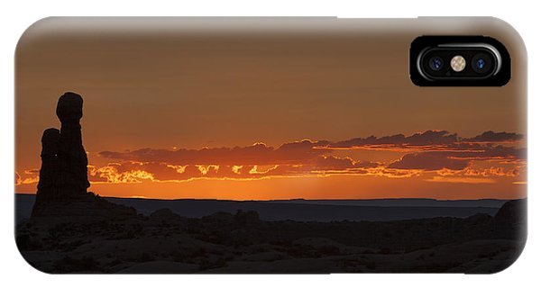Sunset Over The Petrified Dunes IPhone Case