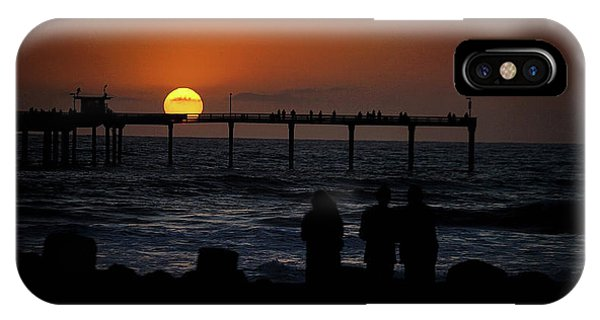 Sunset Over The Pier IPhone Case