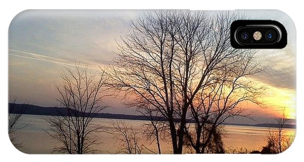 Sunset Over The Potomac IPhone Case
