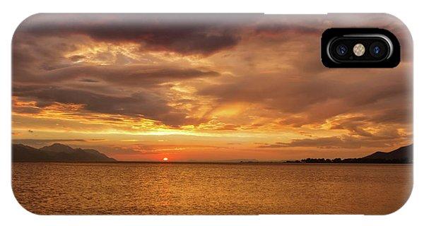 Sunset Over The Sea, Opuzen, Croatia IPhone Case