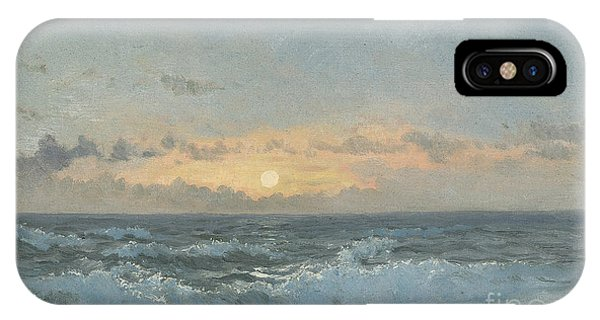 Sea iPhone X Case - Sunset Over The Sea by William Pye