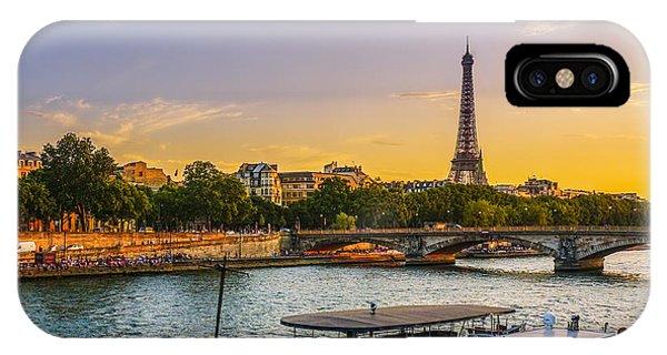 Sunset Over The Seine In Paris IPhone Case