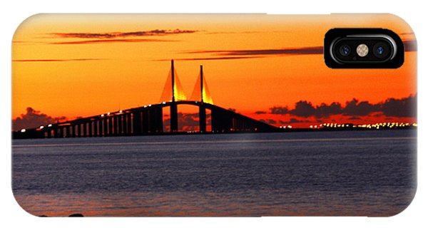 Sunset Over The Skyway Bridge IPhone Case