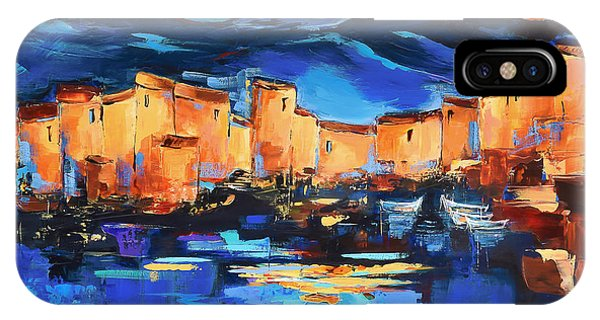 Fauvism iPhone Case - Sunset Over The Village 2 By Elise Palmigiani by Elise Palmigiani