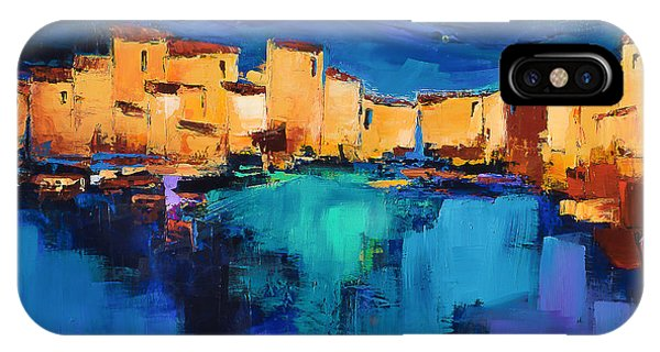 Fauvism iPhone Case - Sunset Over The Village 3 By Elise Palmigiani by Elise Palmigiani