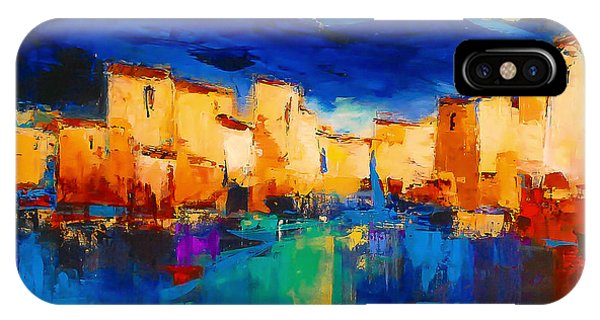 iPhone Case - Sunset Over The Village by Elise Palmigiani