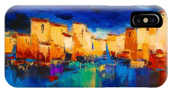 Sunset iPhone Case - Sunset Over The Village by Elise Palmigiani