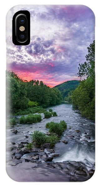 Sunset Over The Vistula In The Silesian Beskids IPhone Case