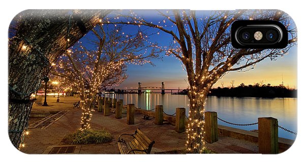 Sunset Over The Wilmington Waterfront In North Carolina, Usa IPhone Case