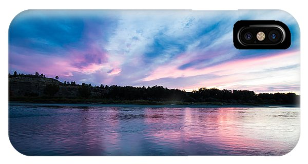 Sunset Over The Yellowstone IPhone Case