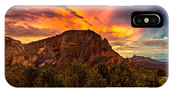 Sunset Over Timber Top Mountain IPhone Case