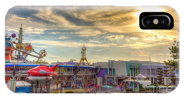 Sunset Over Tomorrowland IPhone Case