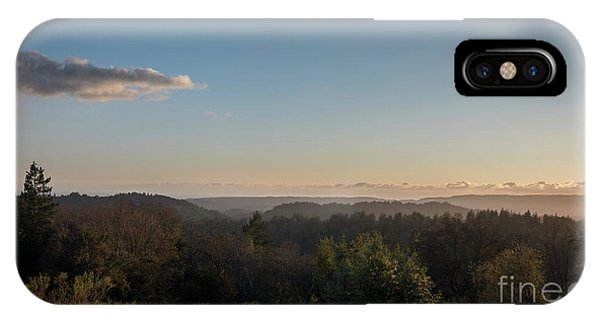 Sunset Over Top Of Dense Forest IPhone Case