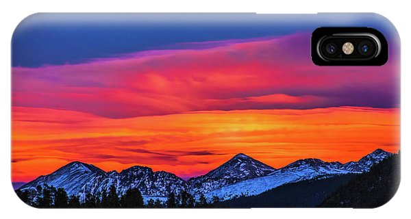 Sunset Over Torreys And Grays Peaks IPhone Case