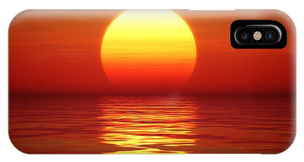 Orange Sunset iPhone Case - Sunset Over Tranqual Water by Johan Swanepoel