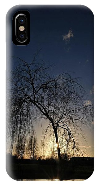 Sunset Over Troubled Waters Phone Case by Gabriella Szekely