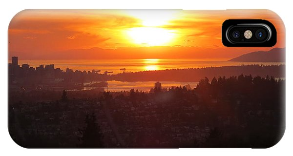 Sunset Over Vancouver IPhone Case