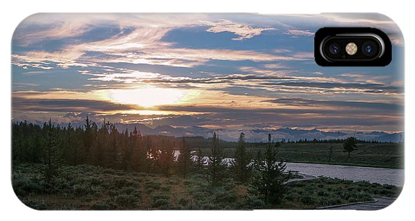 Sunset Over West Yellowstone IPhone Case