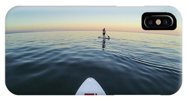 IPhone Case featuring the photograph Sunset Paddle Boarding by Will Gudgeon