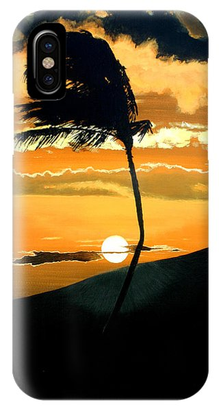 Hawaiian Sunset iPhone Case - Sunset Palm by Pierre Leclerc Photography