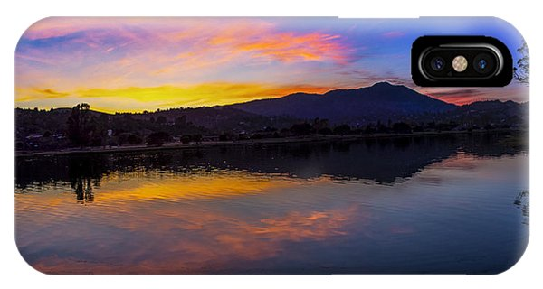 Sunset Panorama Of Mt. Tam And Richardson Bay IPhone Case
