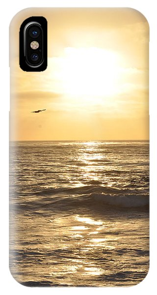 Sunset Pelican Silhouette IPhone Case