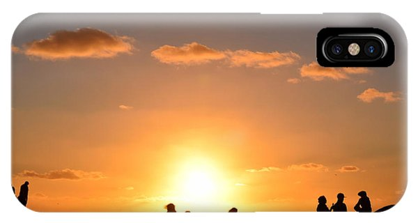 Sunset People In Imperial Beach IPhone Case